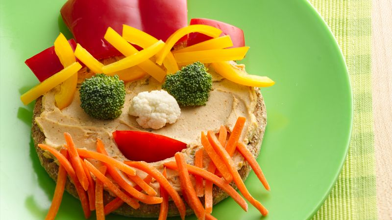 Funny Face Veggie Sandwiches