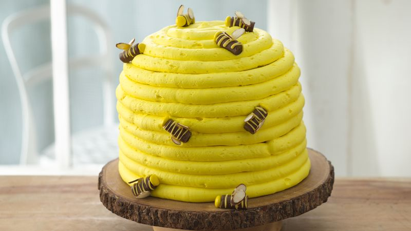 Honey-Lemon Beehive Cake