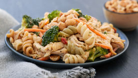 Shredded Thai Chicken Pasta Salad