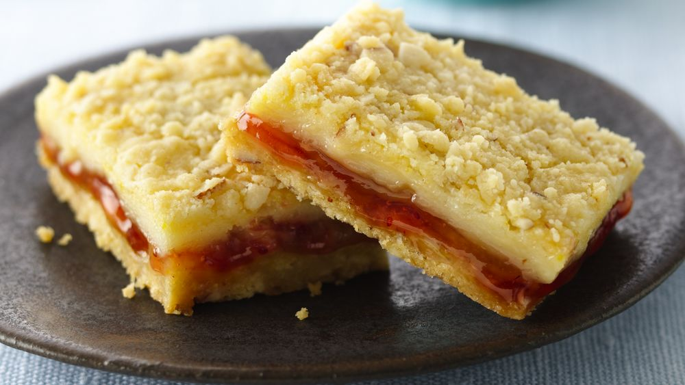 Strawberry-Filled Lemon Cream Cheese Bars