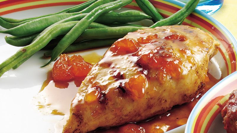 Apricot-Glazed Chicken Breasts