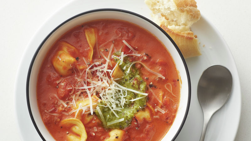 slow cooker creamy tomato and tortellini soup