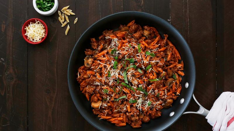 Tomato Basil Italian Sausage Skillet