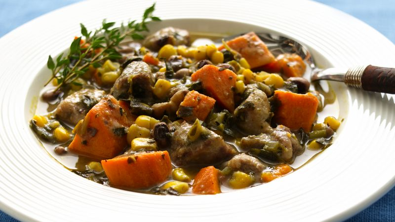 Pork stew with celery recipe