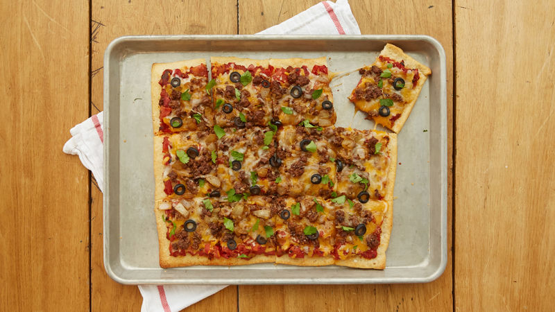 Beefy Tex-Mex Pizza