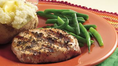 Sage and Rosemary Pork Chops