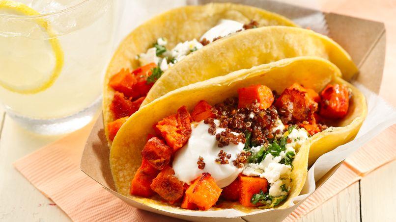 Tacos con Camotes Asados con Harissa Sin Gluten