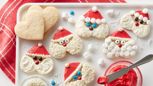 Santa Working Hard  Cookie Cutter and Stamp