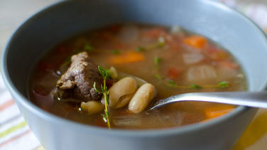 Slow-Cooker Beef and Bean Soup