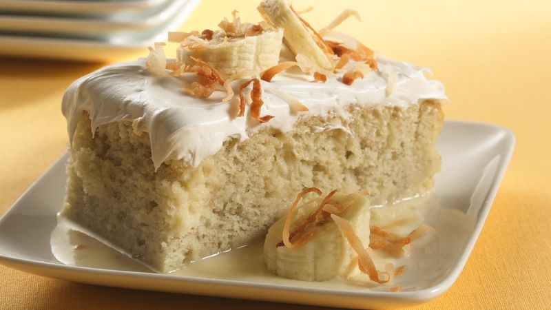 Banana Tres Leches Dessert Recipe BettyCrockercom