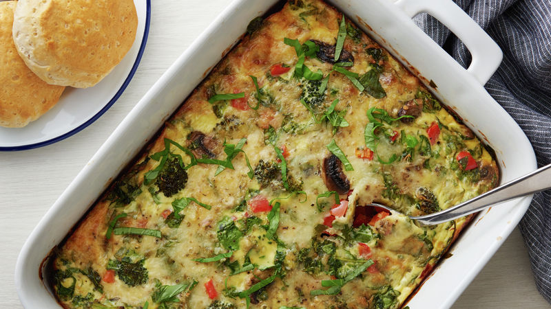 Overnight Veggie Lover's Breakfast Casserole