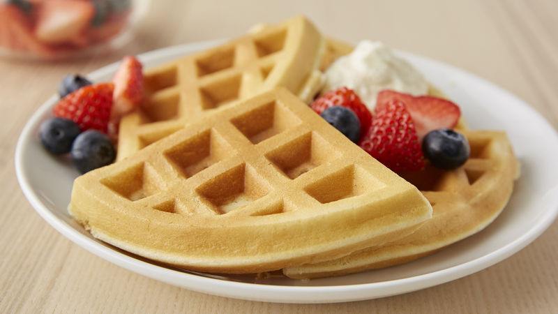 Belgian Waffles with Berry Cream