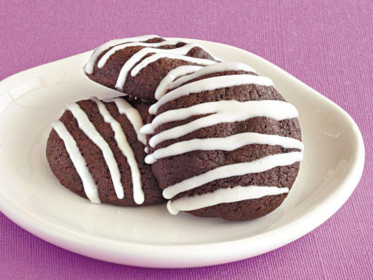 Glazed Chocolate-Cherry Cookies