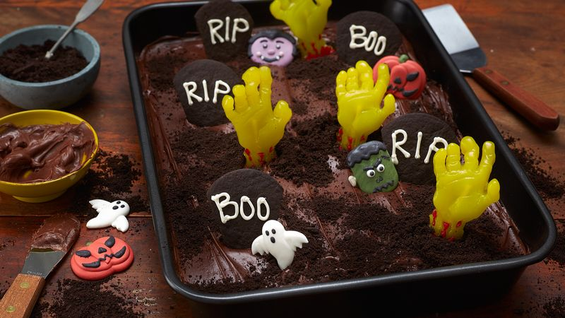 Zombie Graveyard Brownies