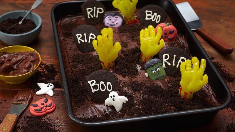 Zombie Graveyard Brownies
