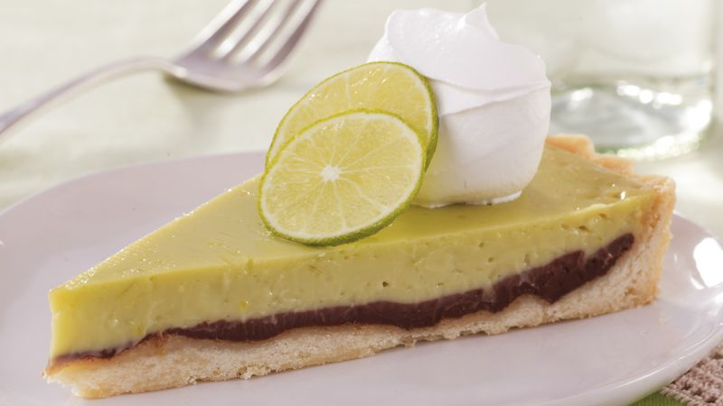 Black-Bottom Key Lime Tart