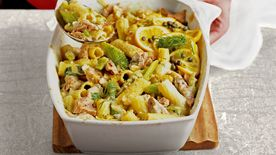 Skinny Tuna and Rigatoni Bake