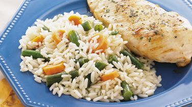Rice Pilaf with Green Beans and Carrots