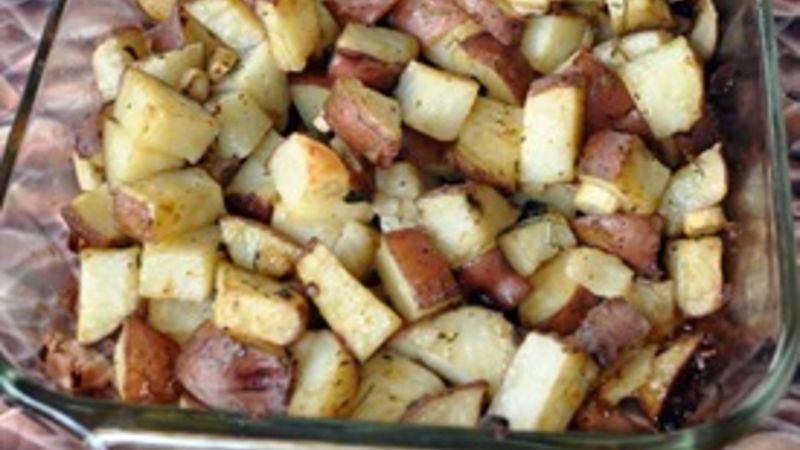 Roasted Herbed Potatoes And Onions Recipe Tablespoon Com