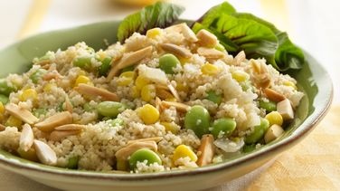 Couscous, Corn and Lima Bean Sauté