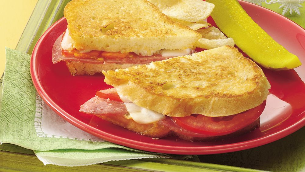 Grilled Salami Sandwiches