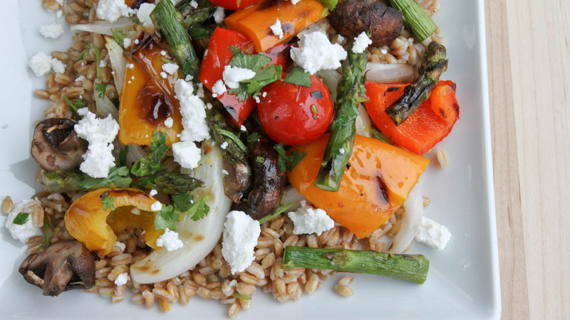 Goat Cheese and Vegetable Farro Salad