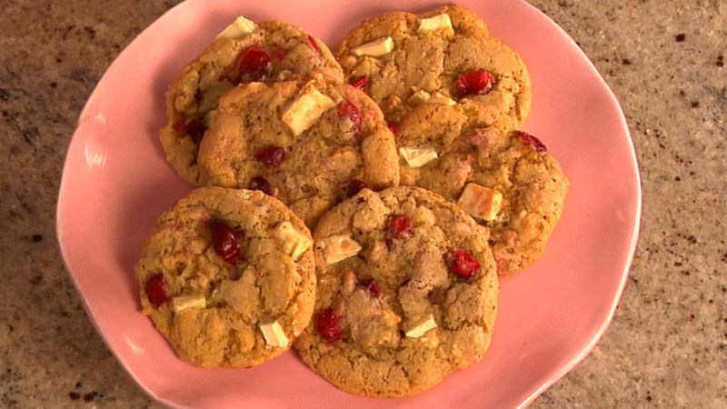 Cranberry, Orange and White Chocolate Chunk Cookies
