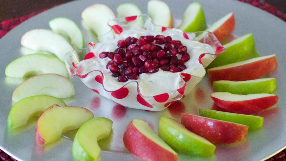 Vanilla Pomegranate Yogurt Dip