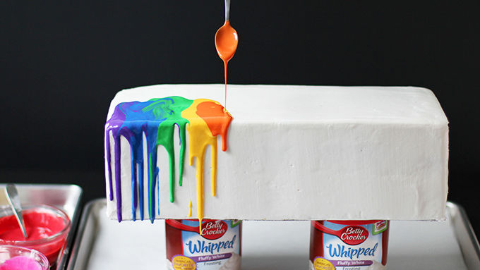 Melted Rainbow Cake Recipe Tablespoon Com