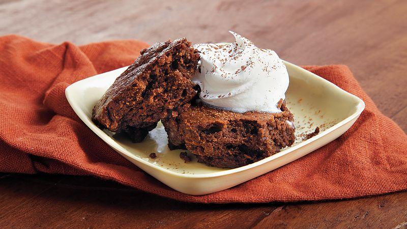 Fudgy Brownie Date Cake