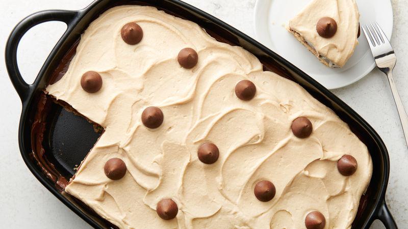 Peanut Butter Blossom Cake