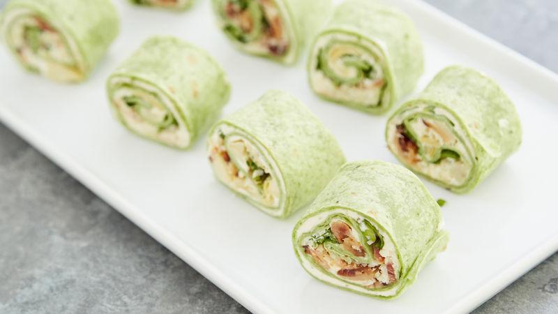 Spinach Artichoke Roll-Ups