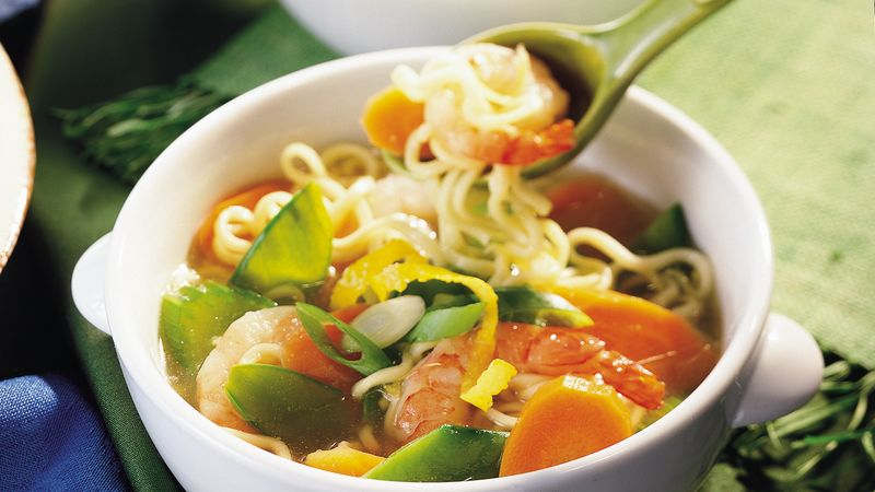 Shrimp-Vegetable Noodle Soup