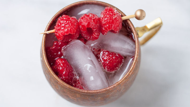 Raspberry Ginger Beer Smash