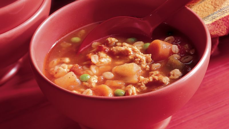 Hearty Turkey Barley Soup