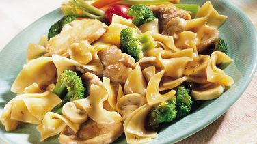 Pork, Broccoli and Noodle Skillet