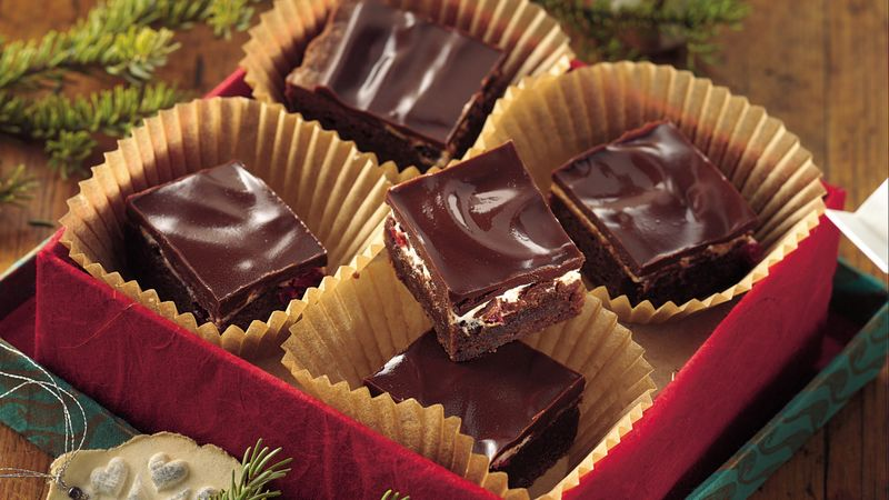 Chocolate-Covered Cherry Brownies