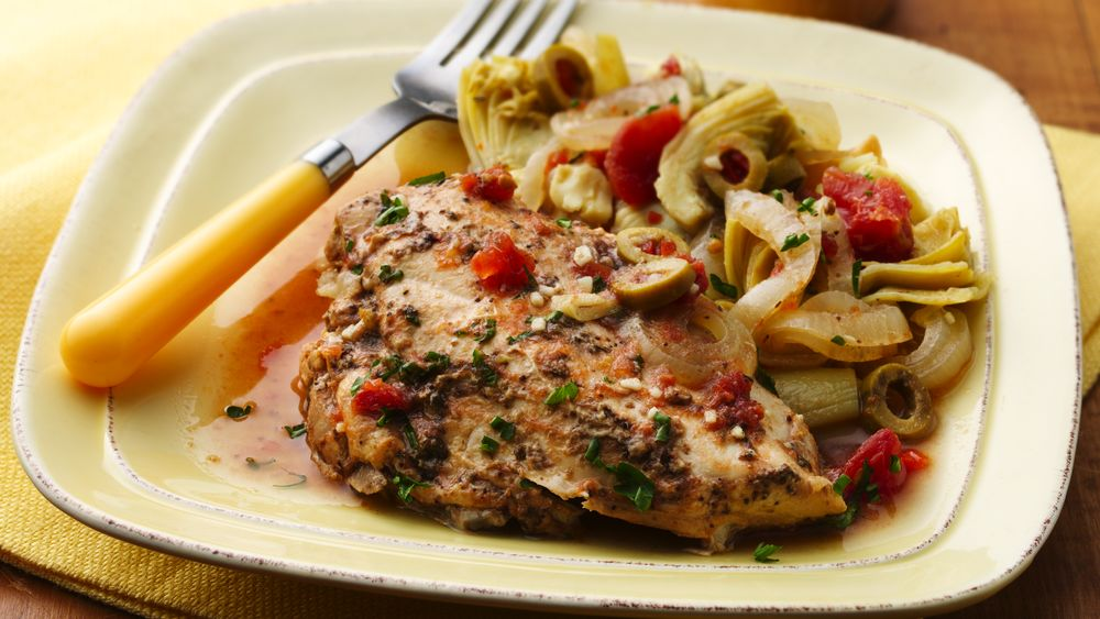 Slow-Cooker Chicken with Tomatoes and Artichokes