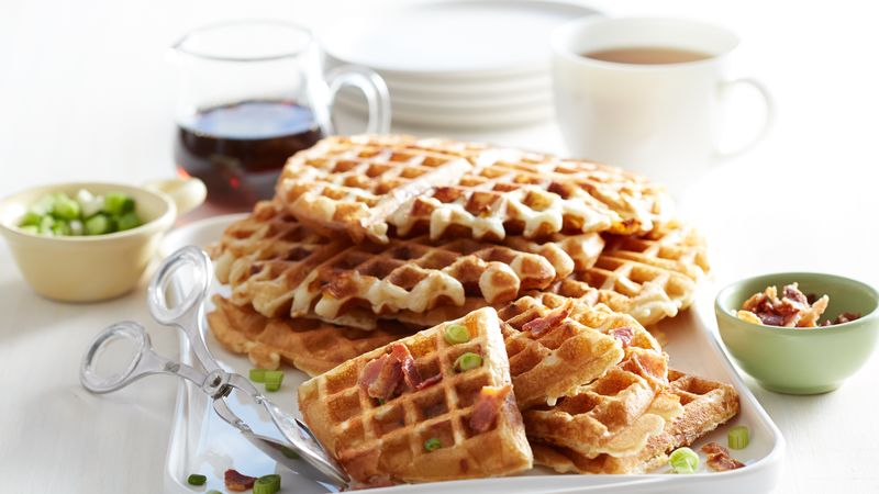 Apple, Bacon and Cheddar Waffles