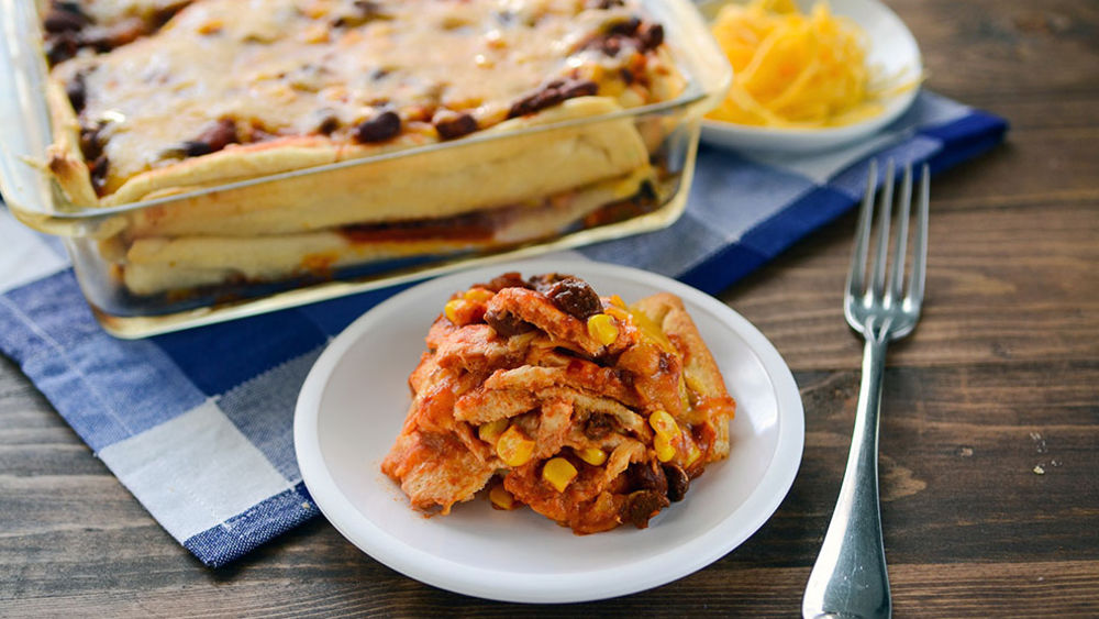 Cheesy Chili Crescent Lasagna