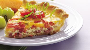 Ham and Tomato Quiche
