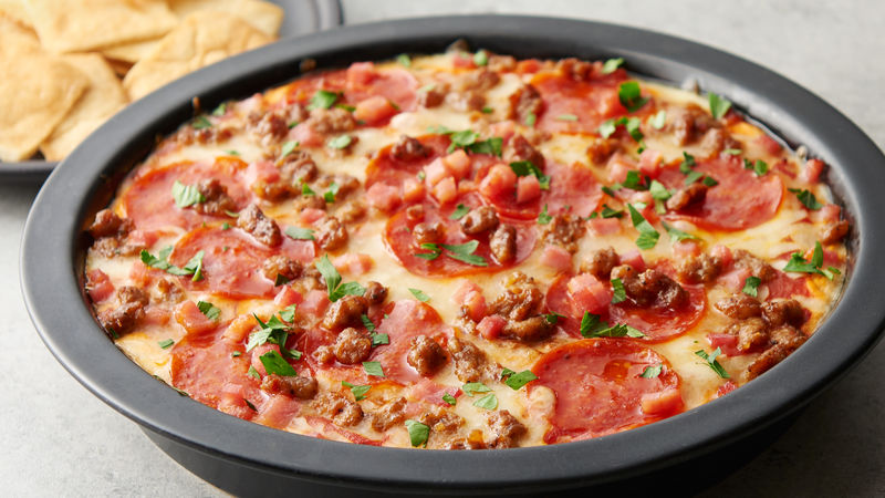Extreme Meat Pizza Dip