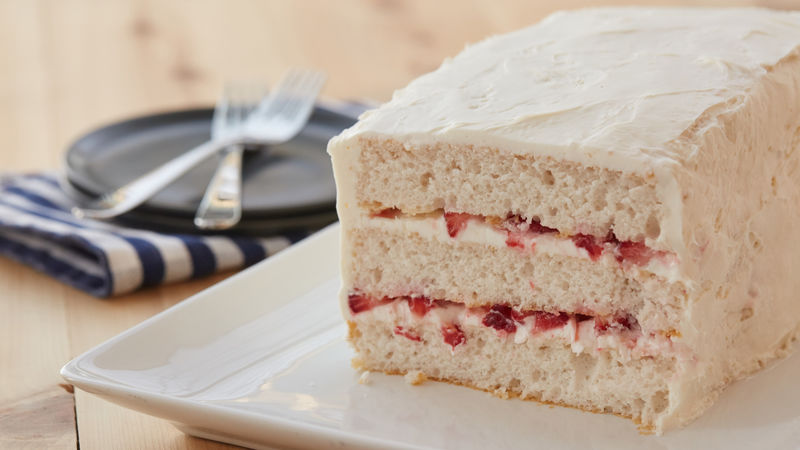 Strawberry Yogurt Torte Recipe - BettyCrocker.com