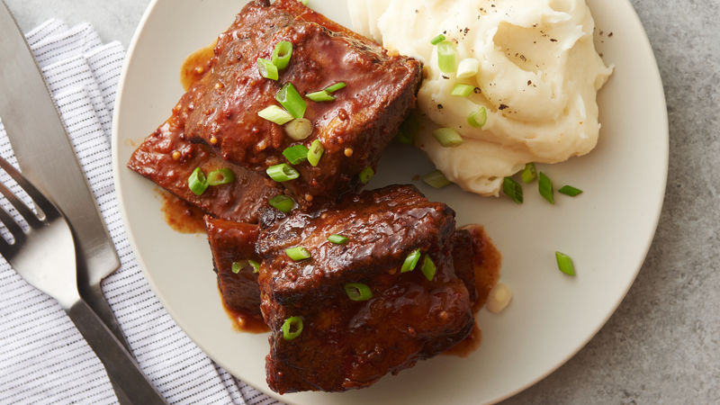 Slow Cooker Barbecue Beef Short Ribs Recipe Bettycrocker Com