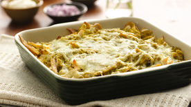 Tortilla Triangles in Tomatillo Sauce (Chilaquiles)