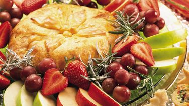 Pastry-Wrapped Jalapeño Brie with Fruit
