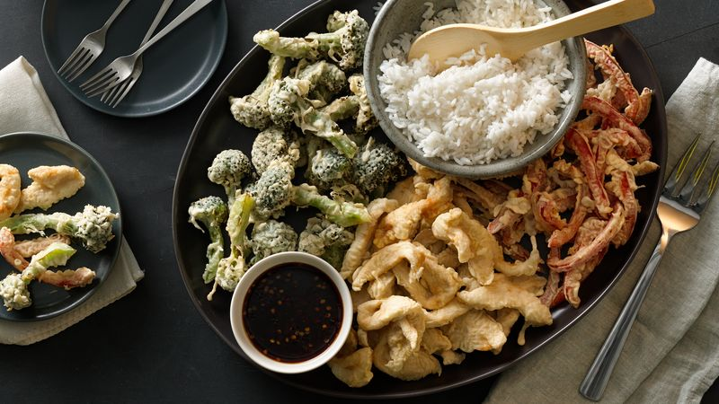 Easy Chicken and Vegetable Tempura
