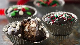 Crunchy Chocolate Truffle Cups