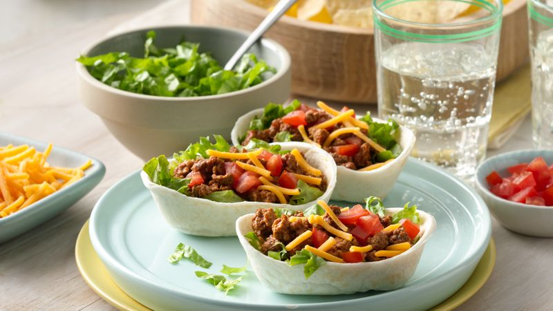 Mini Beef Ten Minute Taco Bowls