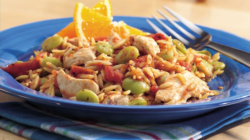 Creole Chicken and Orzo